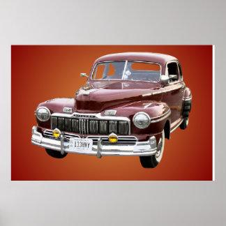 Cartaz clássico do carro posters