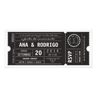 Cartaz convite de casamento faz o preto do em do t