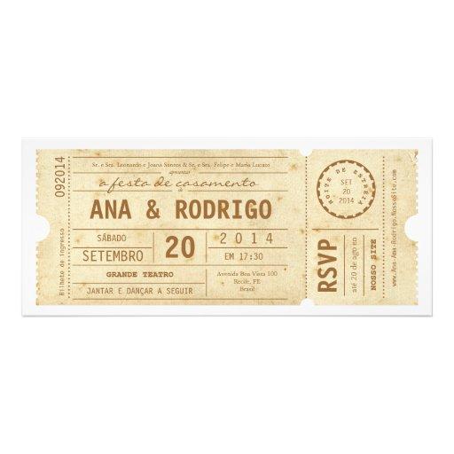 Cartaz convite de casamento faz o teatro faz o vin