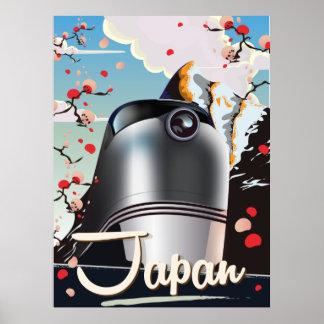 Cartaz das viagens vintage do trem de Japão Poster