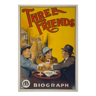 "cartaz de cinematográfico ""Three Friends "" Poster"
