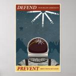 Cartaz décimo da propaganda do jogo de arcada em u posters