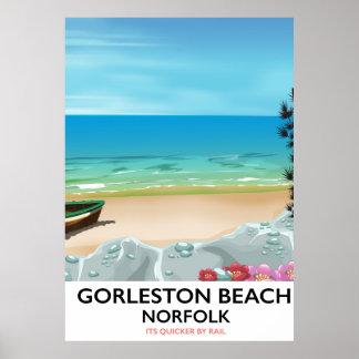 Cartaz do trilho de Norfolk da praia de Gorleston Pôster
