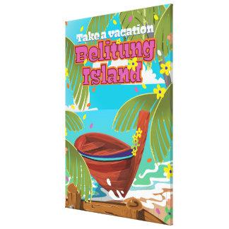 Cartaz do viagem do feriado da ilha de Belitung