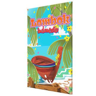 Cartaz do viagem do feriado da ilha de Lombok Impressão Em Tela