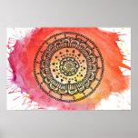 Cartaz morno da mandala de Sun Posteres