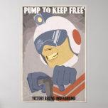 Cartaz quarto da propaganda do jogo de arcada em u poster
