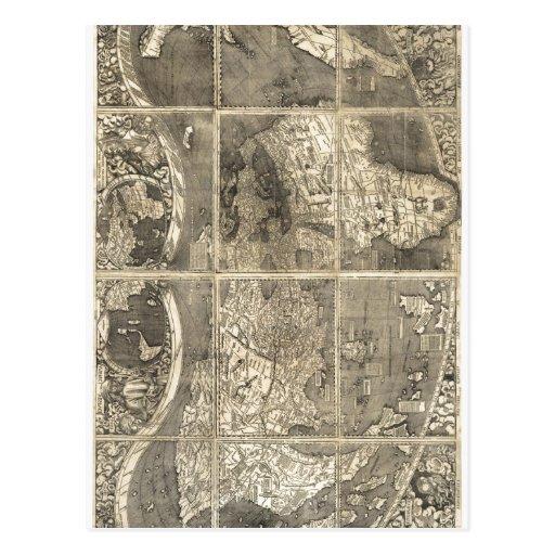Carte du monde Universalis Cos da descrição sumári Cartao Postal