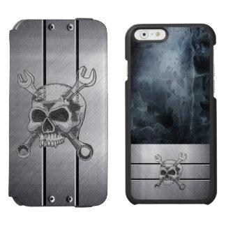 Carteira de prata legal e caso do iPhone 6 do