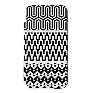 Carteira preta & branca do iPhone do bloco do
