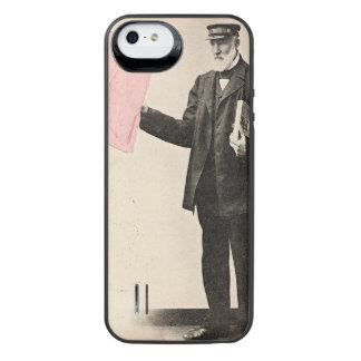 Carteiro romântico do vintage capa carregador para iPhone SE/5/5s