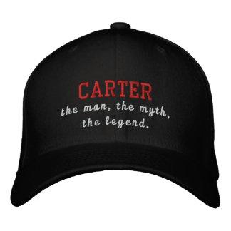 Carter o homem, o mito, a legenda boné bordado