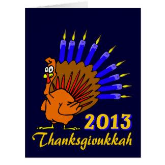 Cartões 2013 de Thanksgivukkah Menurkey
