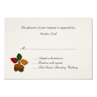Cartões à moda da resposta do casamento outono convite 8.89 x 12.7cm