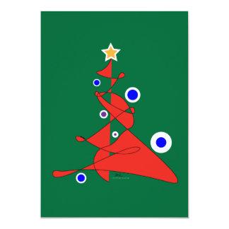 Cartões abstratos da árvore de Natal das reflexões