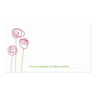 Cartões abstratos do lugar dos rosas cartao de visita