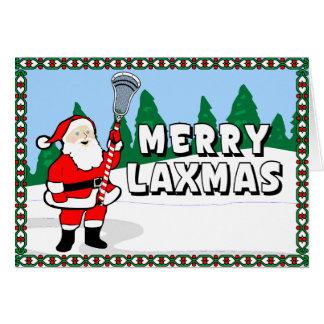 Cartões alegres do Lacrosse de Laxmas!