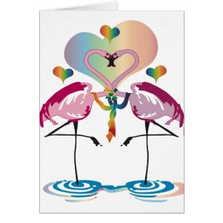 Cartões alegres dos flamingos