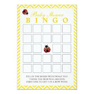 Cartões amarelos do Bingo do chá de fraldas de Convite 8.89 X 12.7cm