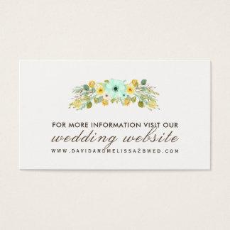 Cartões amarelos e da hortelã do casamento do Web