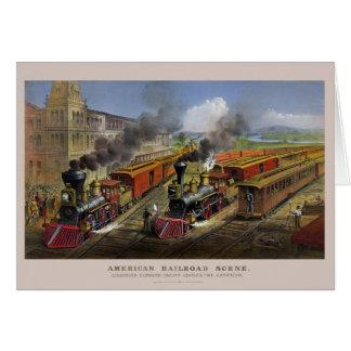 Cartões americano dos trens de estrada de ferro