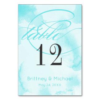 Cartões azuis abstratos da mesa da aguarela  