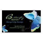 Cartões azuis da nomeação da terapia da massagem d cartão de visita