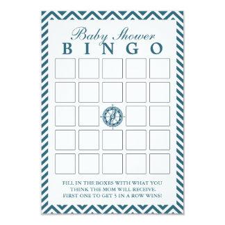 Cartões azuis do Bingo do chá de fraldas de Convite 8.89 X 12.7cm