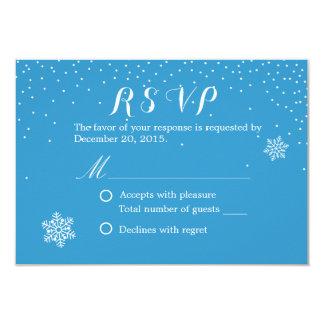 Cartões azuis do casamento no inverno RSVP dos Convite 8.89 X 12.7cm