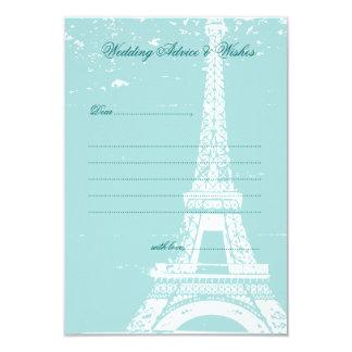 Cartões azuis do conselho do casamento da torre convite 8.89 x 12.7cm