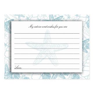 Cartões azuis do conselho e dos desejos do chá de