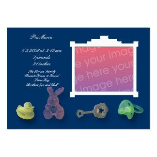 Cartões azuis escuro do anúncio cartão de visita grande