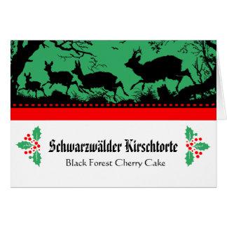 Cartões bávaros da descrição da comida do bufete
