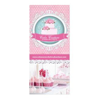 Cartões bonito da cremalheira da padaria do bolo 10.16 x 22.86cm panfleto