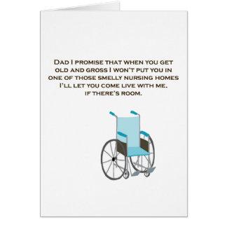 Cartões bonitos do dia dos pais do lar de idosos