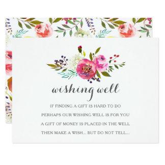 Cartões bons de desejo florais da aguarela