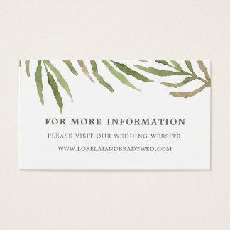 Cartões botânicos do Web site do casamento das