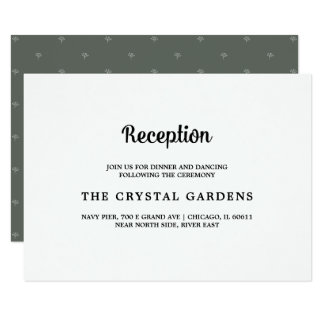 Cartões | brancos verdes escuro da recepção de