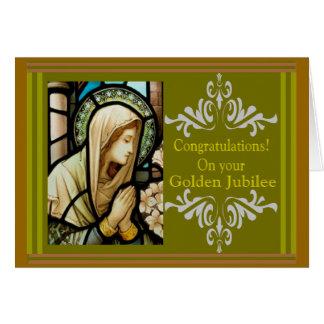 """""""Cartões católicos & presentes do jubileu dourado"""" Cartão Comemorativo"""