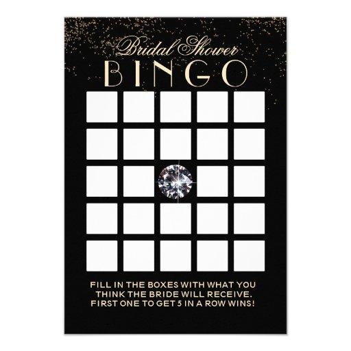Cartões chiques do Bingo do chá de panela do diama Convite