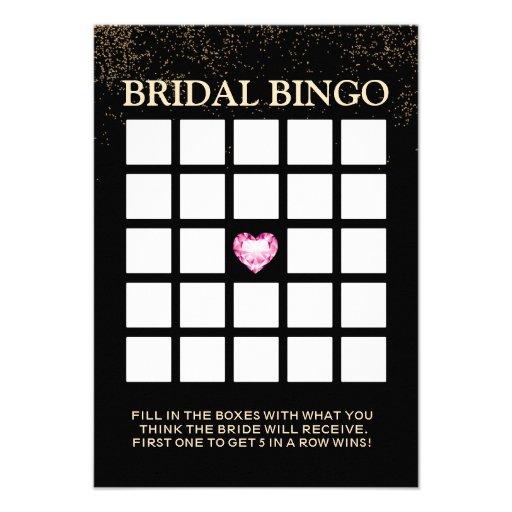 Cartões chiques do Bingo do chá de panela dos conf Convite Personalizado