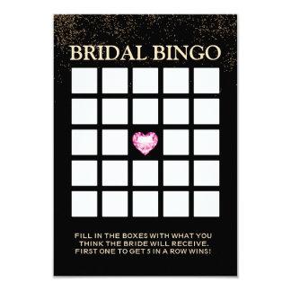 Cartões chiques do Bingo do chá de panela dos Convite 8.89 X 12.7cm