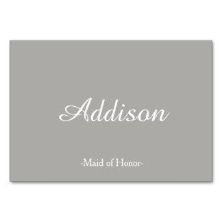 Cartões cinzentos do lugar do casamento