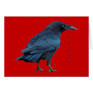 Cartões Collectible da arte preta ereta do corvo