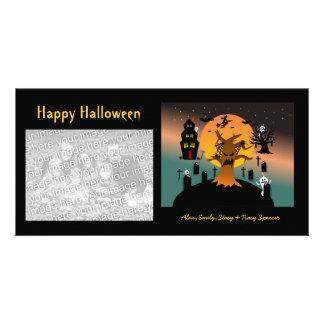 Cartões com fotos assombrados do Dia das Bruxas da