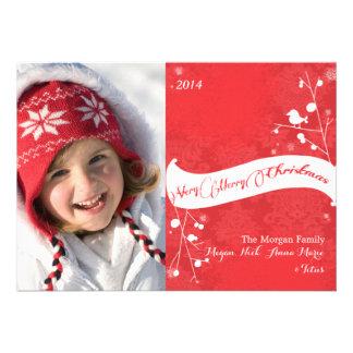 Cartões com fotos brancos vermelhos do feriado do convites
