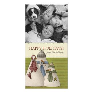 Cartões com fotos da família do boneco de neve do