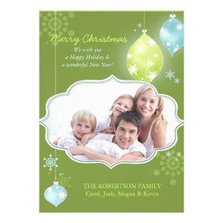 Cartões com fotos da família do brilho do Natal do Convites
