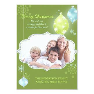 Cartões com fotos da família do brilho do Natal do Convite 12.7 X 17.78cm
