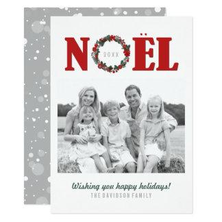 Cartões com fotos da família do Natal de Noel